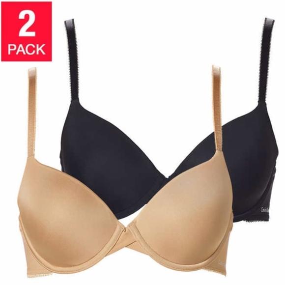 d8d4eed1d30 New 2 Pack Calvin Klein Lightly Lined T-Shirt Bra